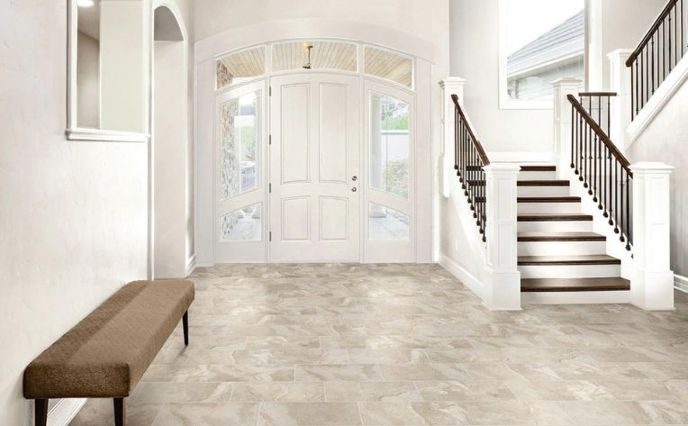 Waterproof Tile Laminate Stone Look Flooring